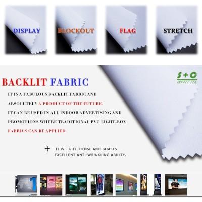 Dye sub light box fabric JYBL-101 are made of white yarns.