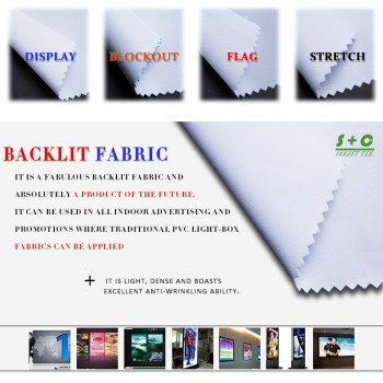 Dye sub light box fabric JYBL-306 presented color is excellent.