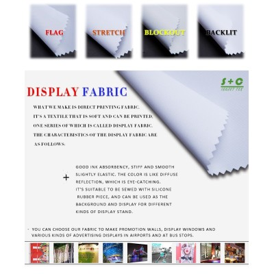 Dye sub display fabric JYDS-06 has good dimensional stability