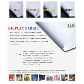 Dye sub display fabric JYDS-07 wall decoration pictures