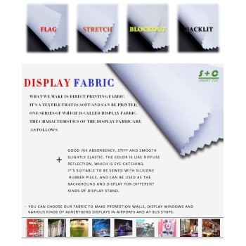 Dye sub display fabric JYDS-13(21) has great color presentation.