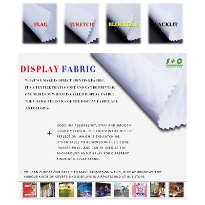 Dye sub display fabric JYDS-13(22)  good dimensional stability