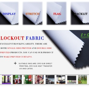 White Dye sub blockout fabric JYBO-105  Heat Sublimation Ink