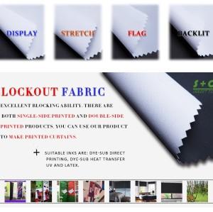 White Dye sub blockout fabric JYBO-105  Heat Sublimation Ink