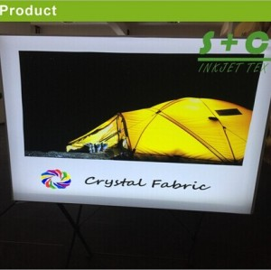 Dye sub light box fabric 100% Polyester JYBL-116 (Crystal Fabric) 100%Polyester