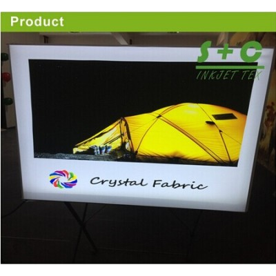 Dye sub light box fabric 100% Polyester JYBL-116 (Crystal Fabric) 100%Polyester