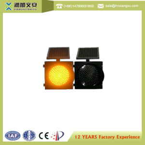 Aluminum+Anti-UV PC Solar LED Traffic Yellow Warning Light Dia300MM