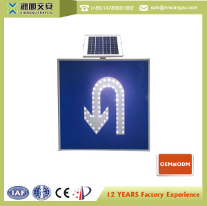 U-Turn Solar Traffic Sign XXSL-U800