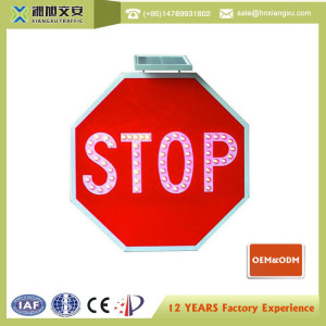 Stop Solar Traffic Sign XXSL-S800