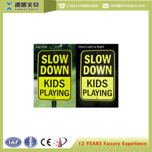 High reflective Slow Down caution signs