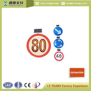800mm Circle Solar LED traffic sign