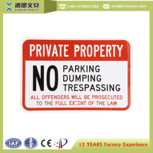 No parking safety signs board