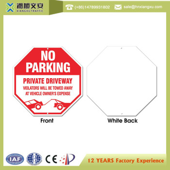 octagon plastic yard safety sign with LOGO