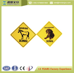 plastic outdoor warning sign board with UV printing