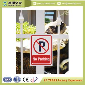 No parking indicative outdoor warning signs