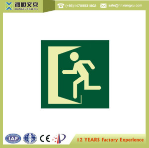 1.0mm 200*50mm PVC emergency exit  Signs