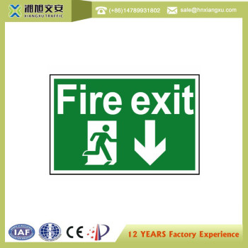 0.8mm PVC Fire exit  Signs