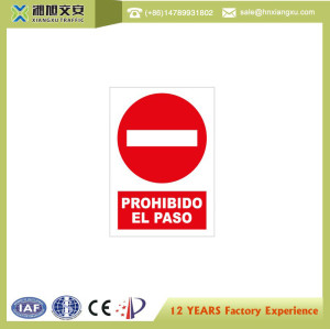 0.8mm PVC Traffic Signs