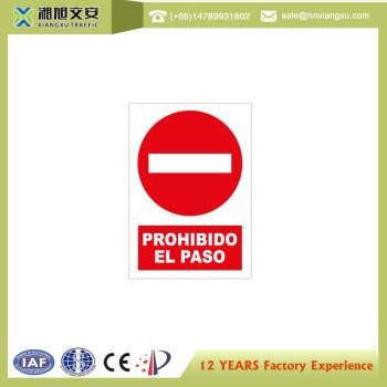 0.8mm PVC Traffic Signs