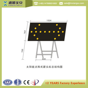 Solar Led Flashing Arrow Sign with Steel Stand