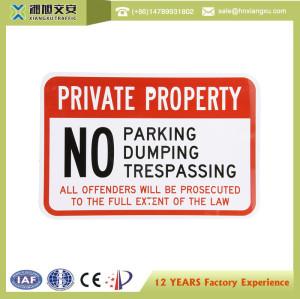 NO Parking PVC Warning sign