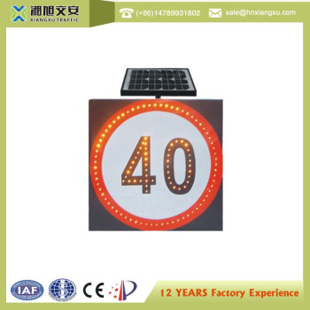 800mm Solar LED Flashing Speed Limited Sign