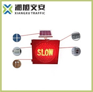 China Solar Amber Flashing SLOW Light/led traffic lights on sale