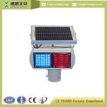 Solar powered Led Aluminum traffic warning light intelligent traffic light