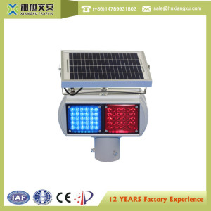 Solar powered Led Aluminum traffic warning light intelligent traffic light