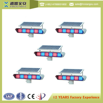 Traffic light Solar Double Sides Flash Warning Light