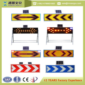 solar energy road safety led flashing reflective traffic arrow signs