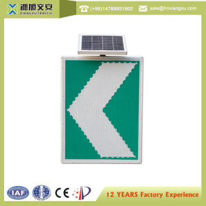 led street light lamp safety warning sign flashing arrow signs