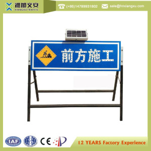 Customized Road Safety Warning Solar Led Traffic Sign, Construction Guide Sign