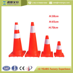 Work Area Protection PE 18 INCH Polyvinyl Chloride Standard  Road Red Safety Traffic Cones Sale