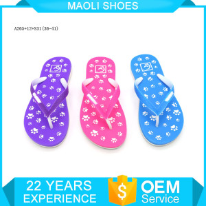 Latest products two color eva in portugal beach slippers for women