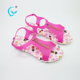 Pvc wuchuan platform fancy slippers for girls sublimation flip flops