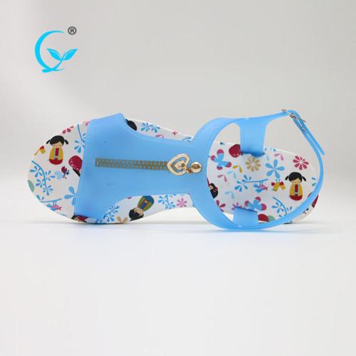 Pvc wuchuan platform fancy slippers for girls sublimation flip flops