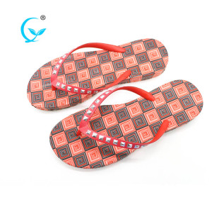 Women latest design summer girls chappals beach slippers flip flops