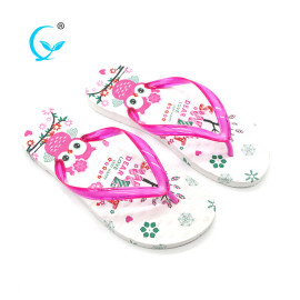 Cheap and beautiful pvc beach women flip flops shoes slipper