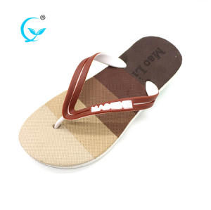 Beach house slide wedge custom logo sandals eva slipper men flip flops