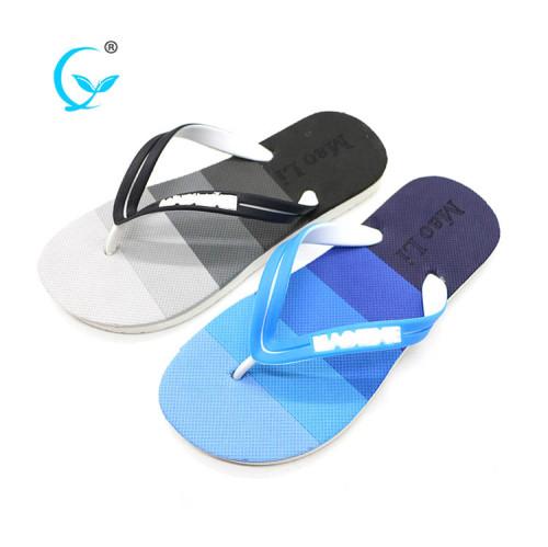 Beach house slide wedge custom logo sandals eva slipper men flip flops