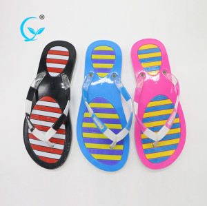 PVC beautiful pictures ladies arab wholesale plastic slippers