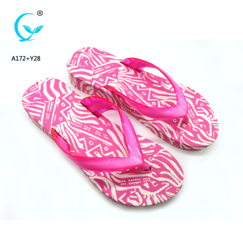 Decoration with aerosoft beach flip flop women beach sandals flowers