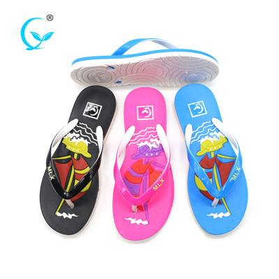 Hot lady styles slipper well selling flip flops factory custom wholesale