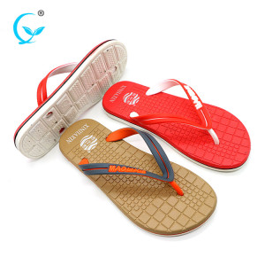 Custom pedicure fancy flip flops men flat sandal slippers