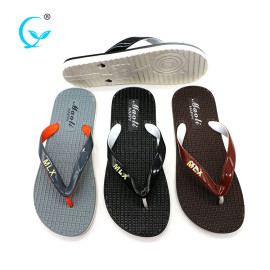 2017 cheap wholesale black pvc slippers mens thong slides sandals