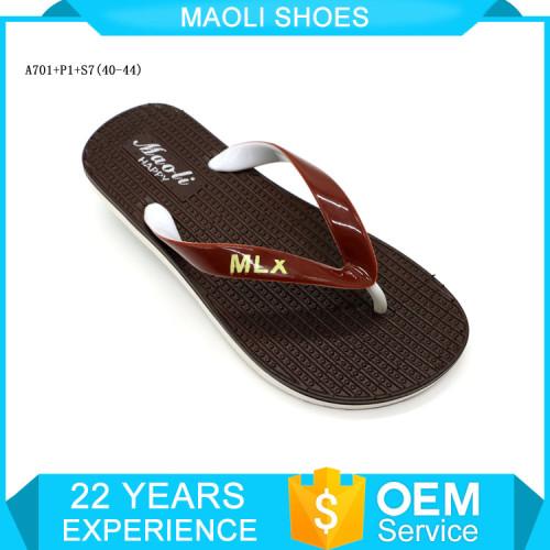 2017 cheap wholesale black pvc slippers mens thong slides sandals