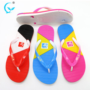 Chinese women pvc Flip flops soft nude beach walk air blowing slipper mold