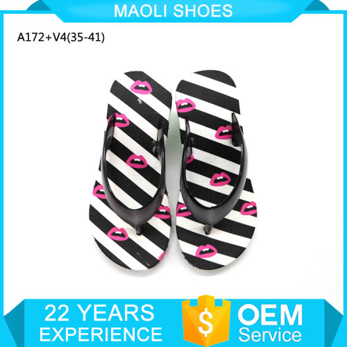 Sliders moroccan flat sandals women raw materials for PVC slippers
