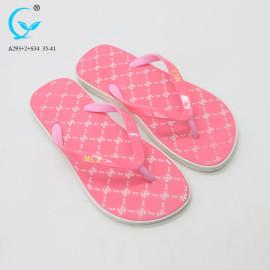 Custom Plastic home fancy girls flip flops china wholesale slipper